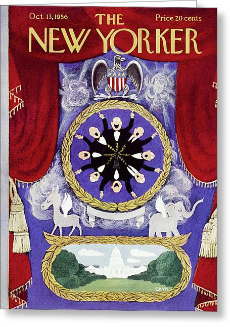 New Yorker October 13 1956 Greeting Card