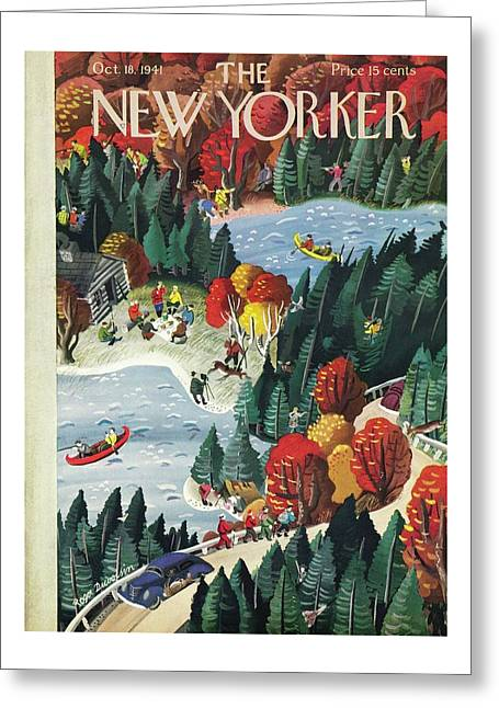 New Yorker October 18 1941 Greeting Card