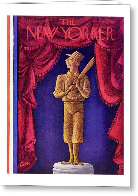 New Yorker October 2 1954 Greeting Card