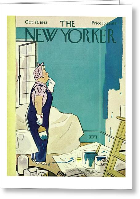 New Yorker October 23 1943 Greeting Card