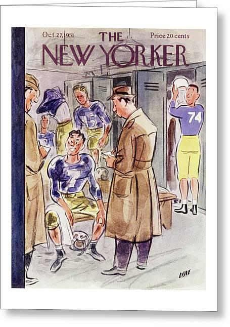 New Yorker October 27 1951 Greeting Card