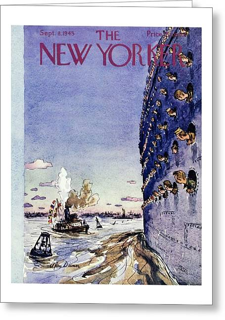 New Yorker September 8 1945 Greeting Card