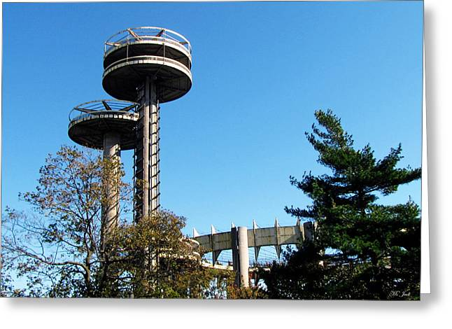 New York's 1964 World's Fair Observation Towers Greeting Card
