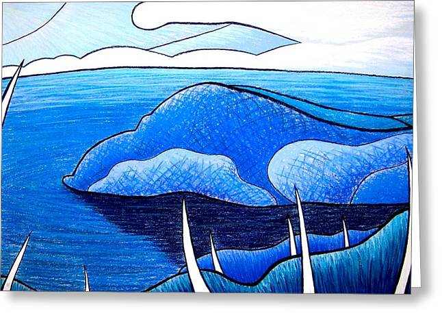 New Zealand Bay Greeting Card by Jason Charles Allen
