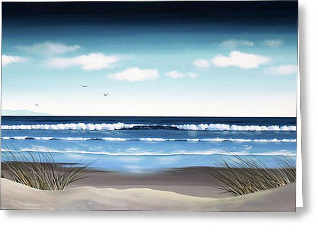 New Zealand Brighton Beach By Linelle Stacey Greeting Card