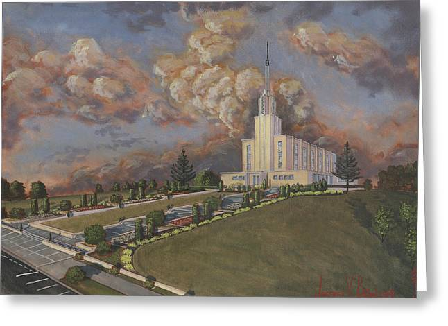 New Zealand Temple Greeting Card by Jeff Brimley