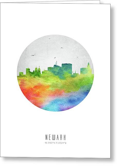 Newark Skyline Usnjne20 Greeting Card