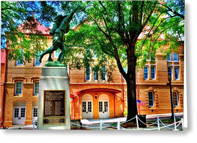 Greeting Card featuring the photograph Newberry Opera House by Lisa Wooten