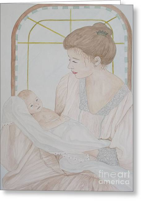 Newborn - Jacqueline Ruby Greeting Card