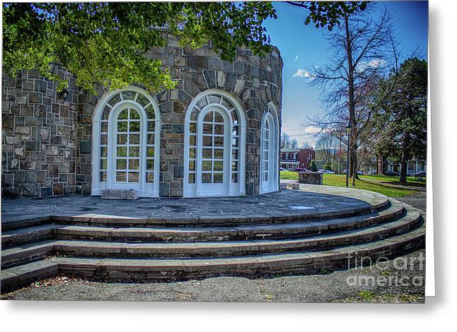Newburgh Downing Park Shelter House Side View Greeting Card