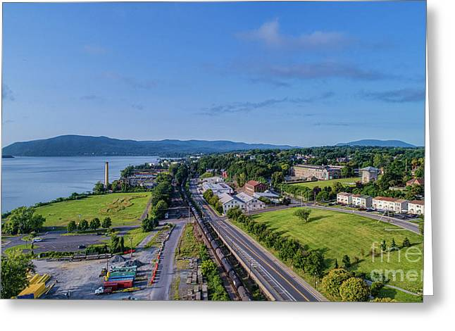 Newburgh Waterfront Looking South 4 Greeting Card