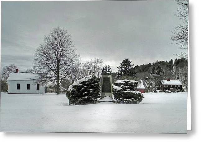 Greeting Card featuring the photograph Newbury Lower Green by Wayne Marshall Chase