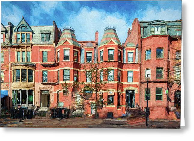 Newbury Street In Boston Greeting Card