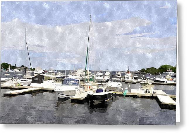 Newburyport Harbor Nhwc Greeting Card