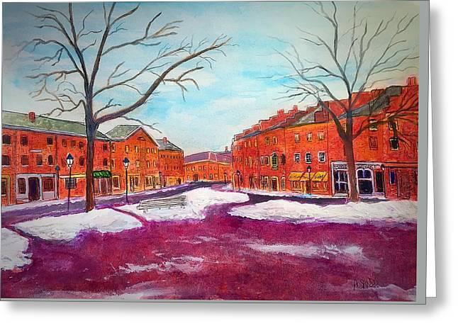 Newburyport Ma In Winter Greeting Card