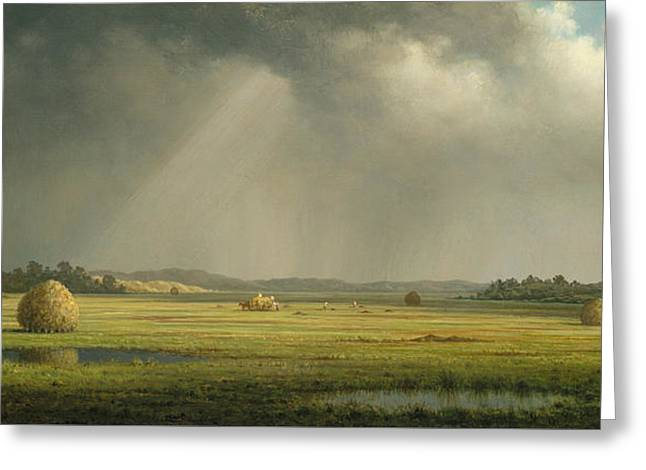Newburyport Meadows  Greeting Card by Martin Johnson Heade