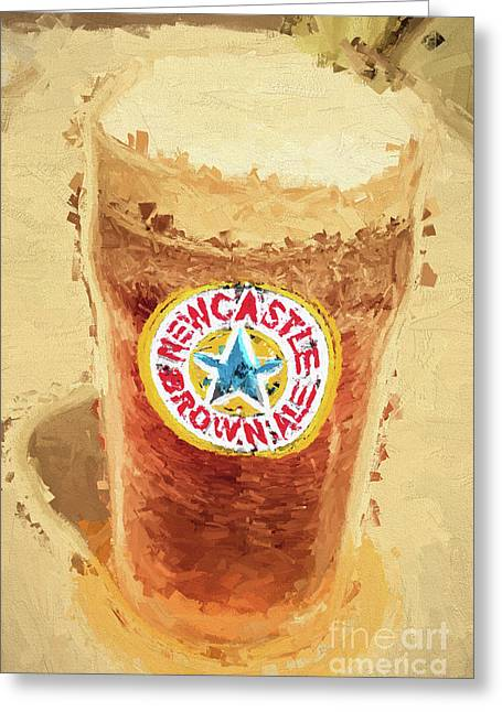 Newcastle Brown Ale Digital Artwork Greeting Card by Jorgo Photography - Wall Art Gallery