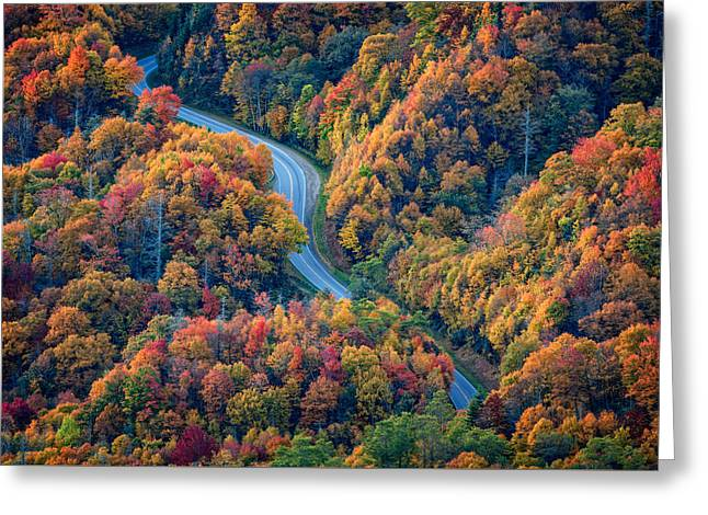 Newfound Gap Greeting Card by Rick Berk