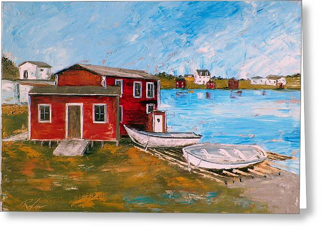 Newfoundland Outport #1 Greeting Card by RB McGrath