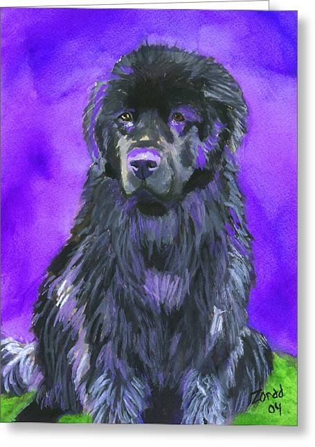 Newfoundland Watercolor Greeting Card