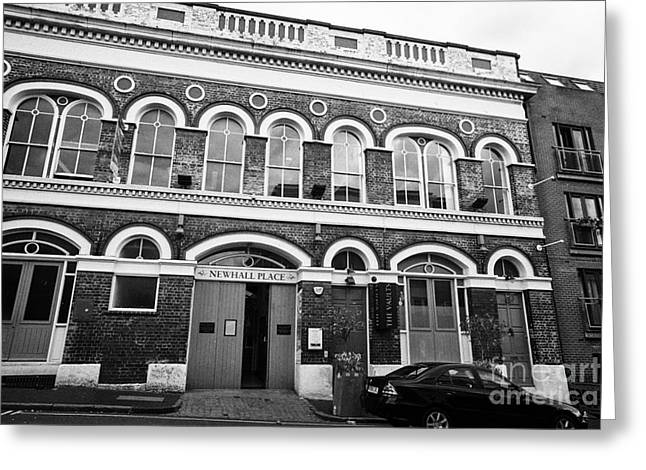 newhall place and the vaults bar and restaurant Birmingham UK Greeting Card by Joe Fox
