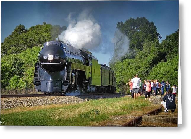 Newly Restored Steam Locomotive 2 Greeting Card