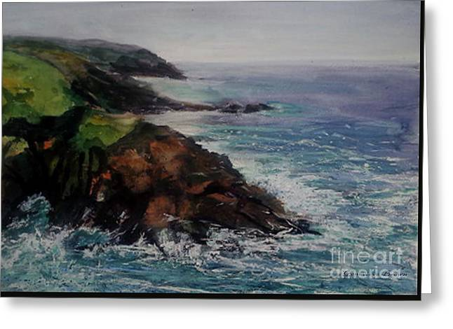 Newlyn Cliffs 2 Greeting Card
