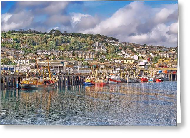 Newlyn Harbour Cornwall 2 Greeting Card