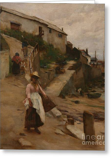 Newlyn Slip Greeting Card by William Banks Fortescue