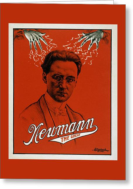 Newmann The Great - Vintage Magic Greeting Card by War Is Hell Store