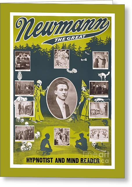Newmann The Great - 1916 Vintage Poster Restored Greeting Card by Carsten Reisinger