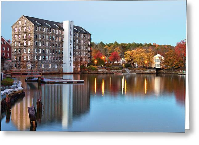 Newmarket Mills At Dusk Greeting Card by Eric Gendron