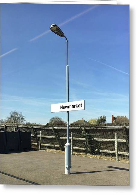 Newmarket Station Greeting Card by Tom Gowanlock