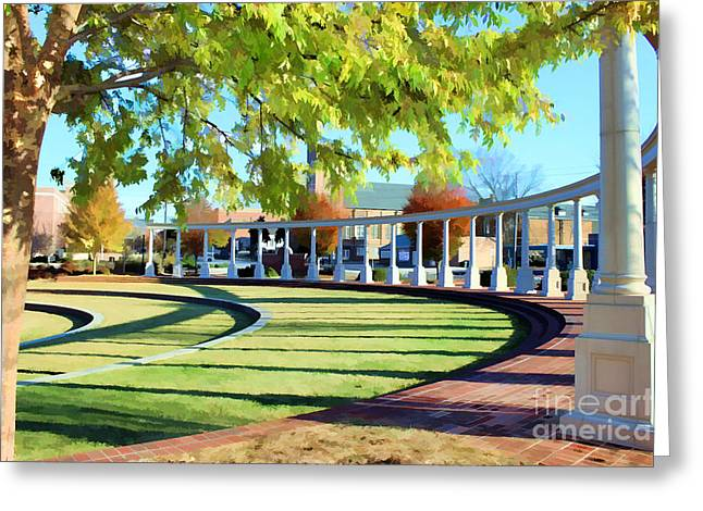 Greeting Card featuring the photograph Newnan Park Ampitheatre by Roberta Byram