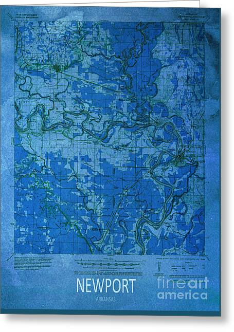 Newport 1935 Map Greeting Card