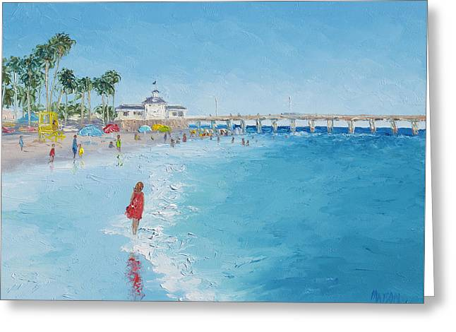 Newport Beach And Balboa Pier Greeting Card