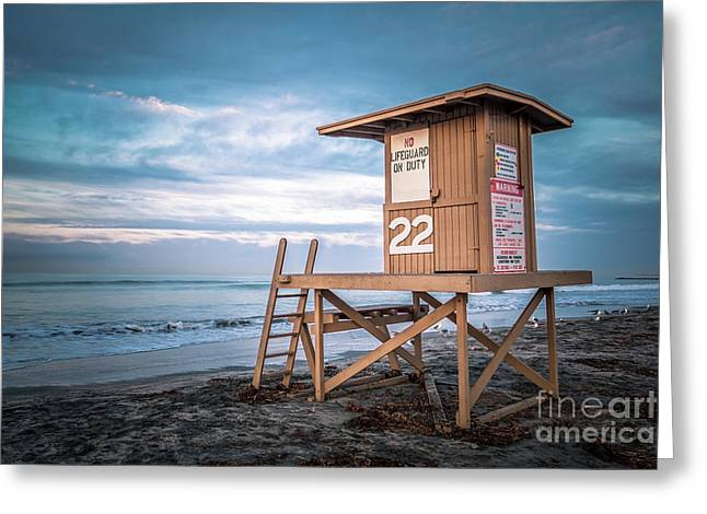 Newport Beach Ca Lifeguard Tower 22 Photo Greeting Card