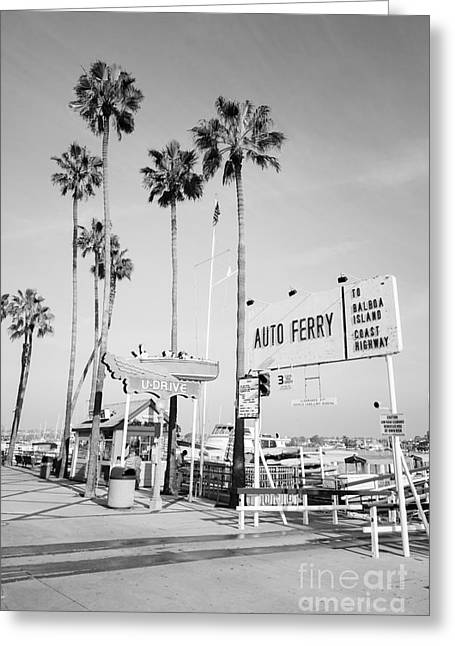 Newport Beach Ferry Entrance Photo Greeting Card