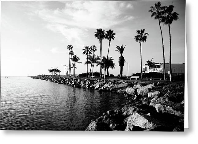 No People Photographs Greeting Cards - Newport Beach Jetty Greeting Card by Paul Velgos