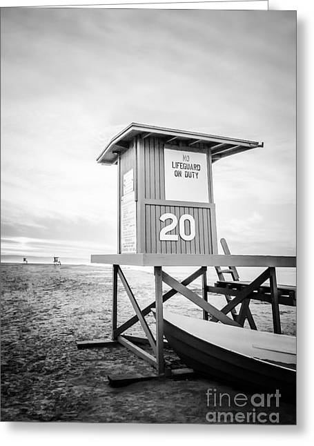 Newport Beach Lifeguard Tower 20 Photo Greeting Card