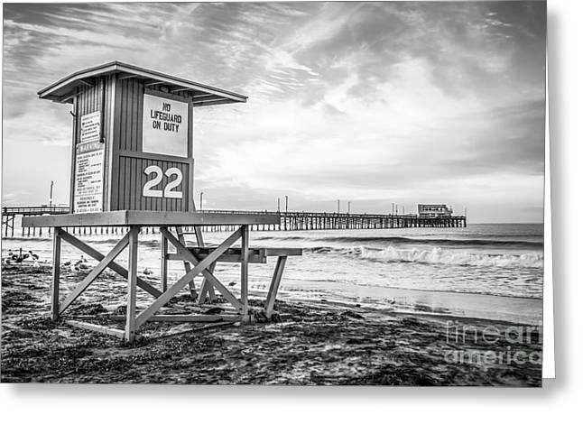 Newport Beach Lifeguard Tower 22 Photo Greeting Card by Paul Velgos