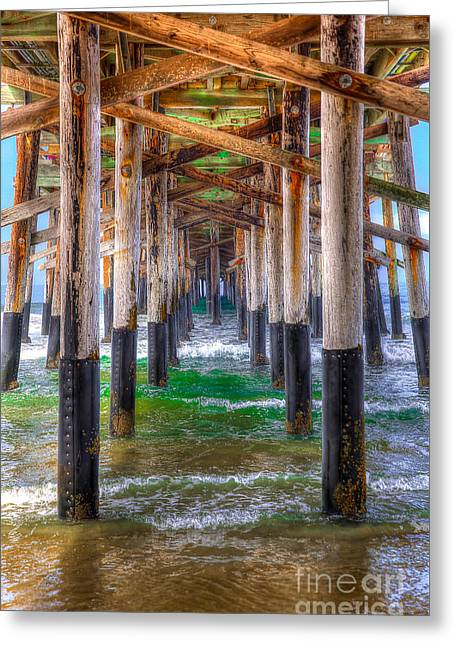 Greeting Card featuring the photograph Newport Beach Pier - Summertime by Jim Carrell
