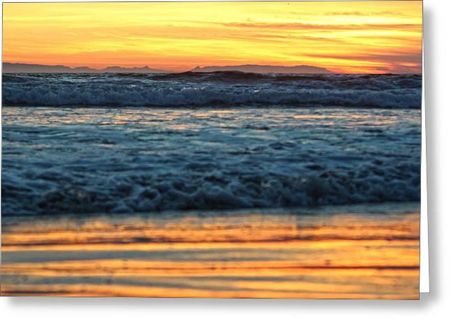 Newport Beach Sunset 1 Greeting Card by Habib Ayat