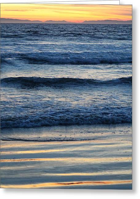 Newport Beach Sunset 2 Greeting Card by Habib Ayat