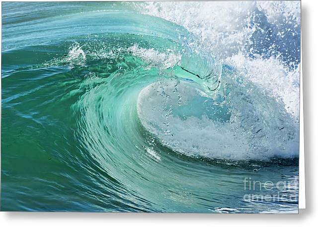 Greeting Card featuring the photograph Newport Beach Wave Curl by Eddie Yerkish