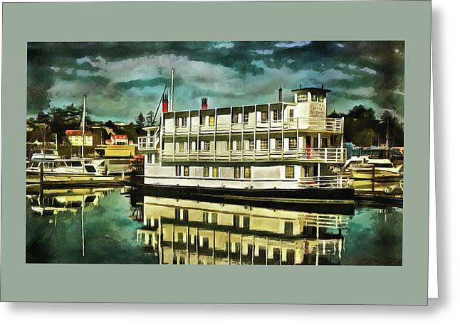 Newport Belle In Yaquina Bay Greeting Card