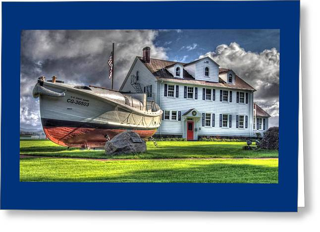 Newport Coast Guard Station Greeting Card