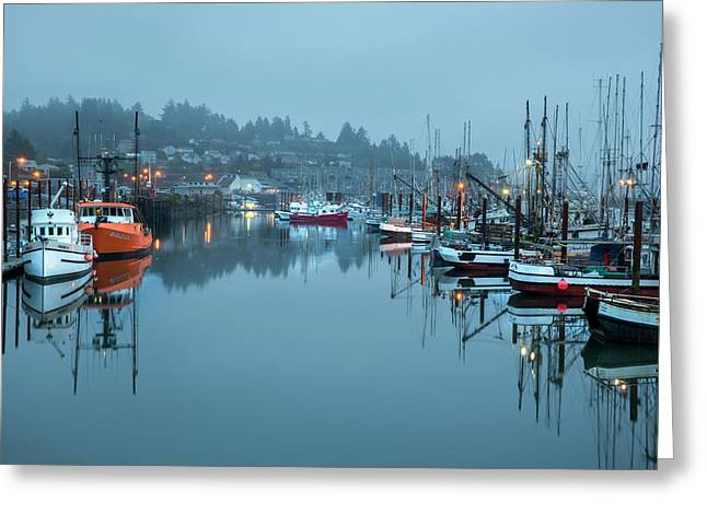 Newport Fishing Boats Greeting Card by Jon Glaser
