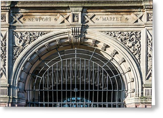 Newport Market Entrance Greeting Card by Steve Purnell
