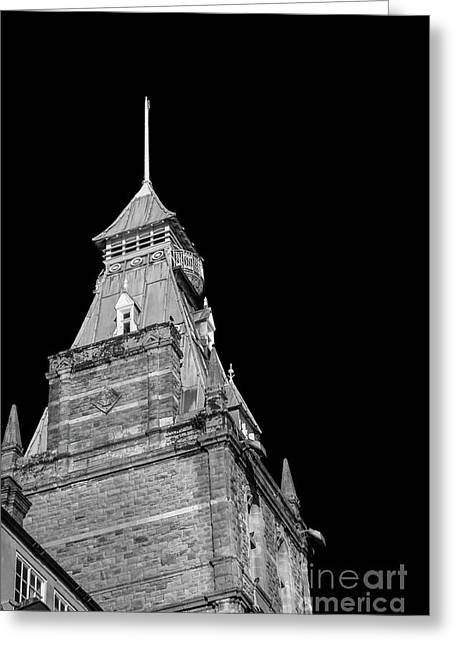 Newport Market Tower Mono Greeting Card by Steve Purnell